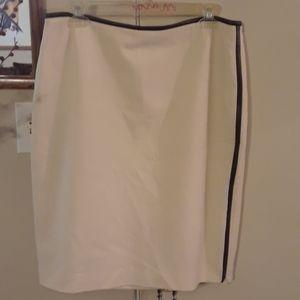 Cream  Sexy Staight Skirt